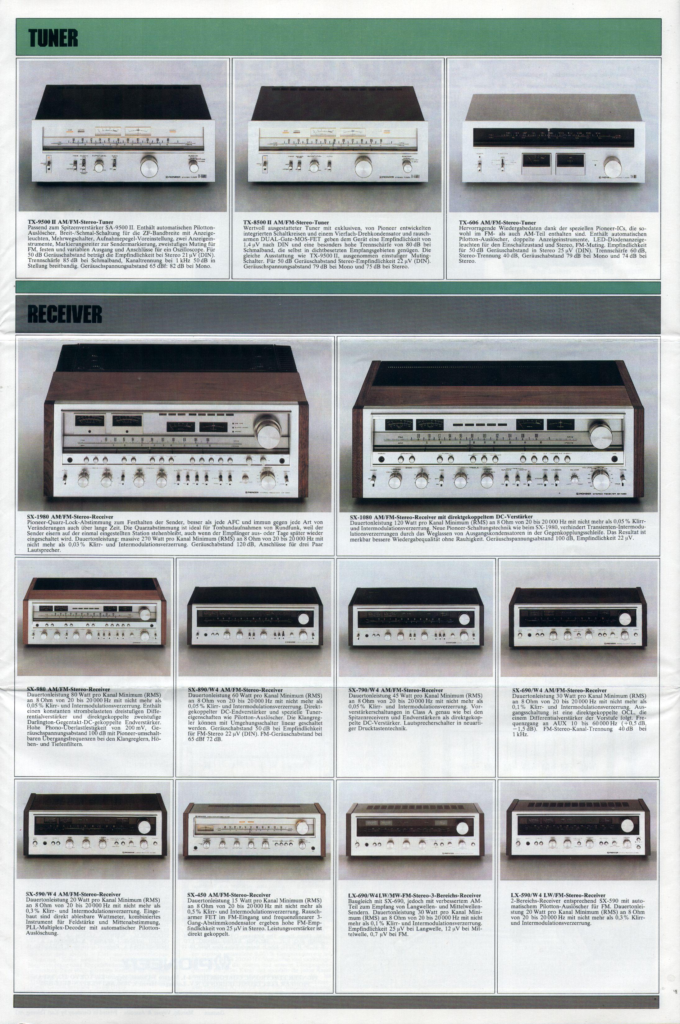 Pioneer Kataloge und Prospekte